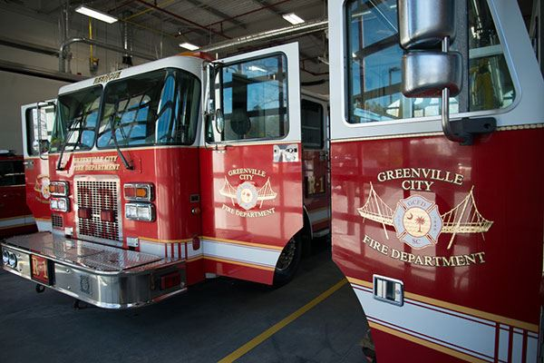 image of GCFD fire engines