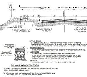 Screenshot of sample drawing from the Design Specifications Manual