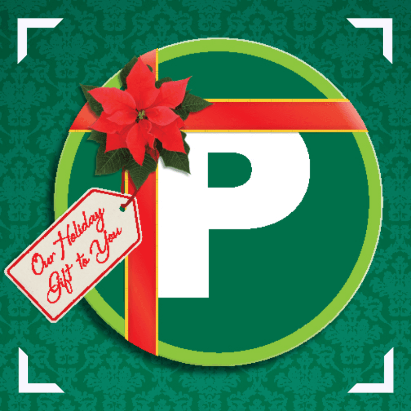 City of Greenville Parking Logo with bow on it