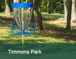 Disc golf hole, at Timmons Park