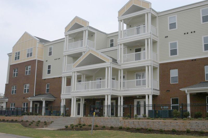 exterior of housing development in Greenville