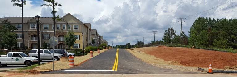 Market Point Connector - photo of completed street